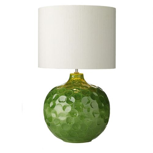 Odyssey Table Lamp Green Dimpled Ceramic Base Only (Hand made, 7-10 day Delivery)